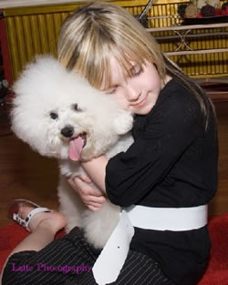 Bichon Frise Kelly with Kelisha